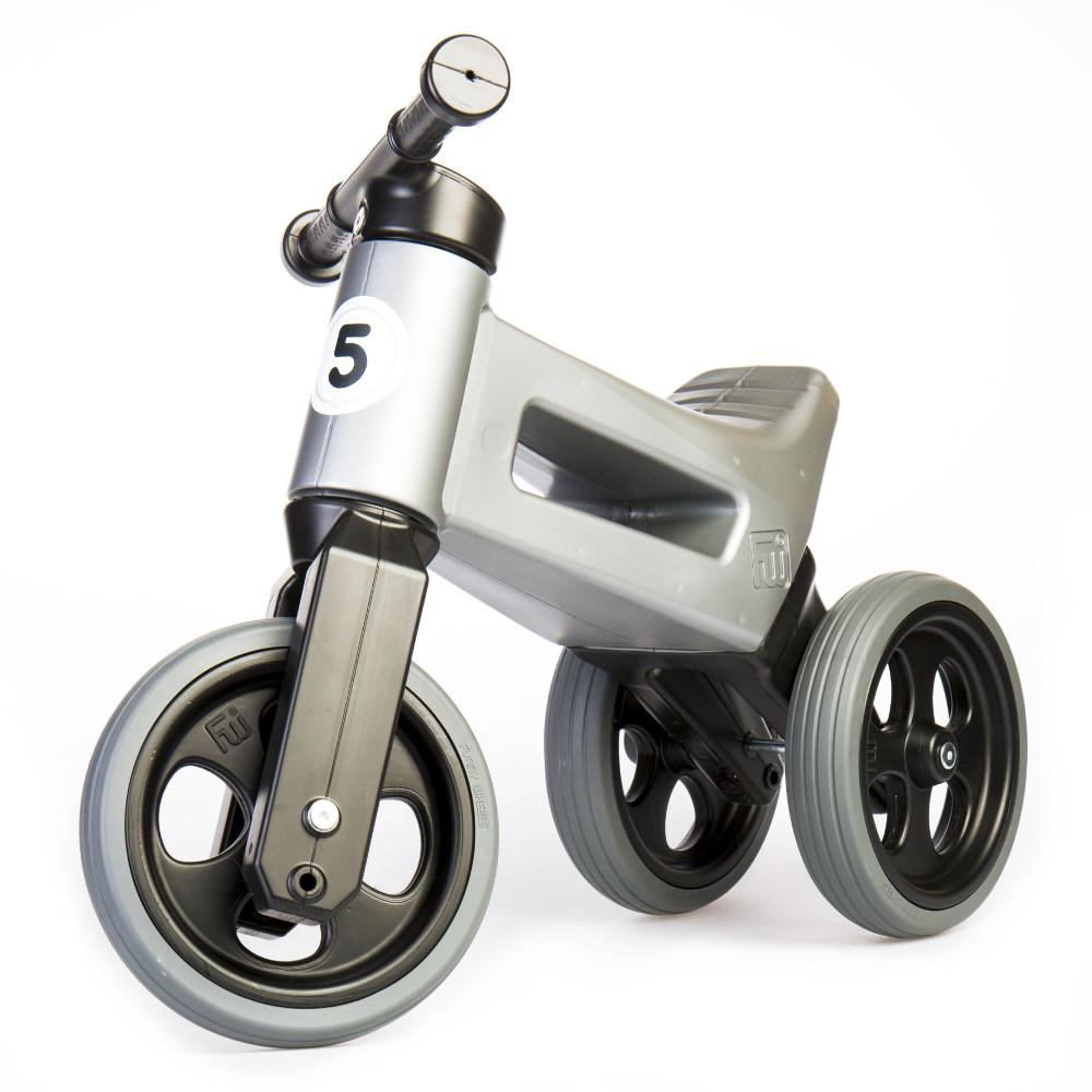 Odrážedlo FUNNY WHEELS Rider Sport 2v1 Silver Grey