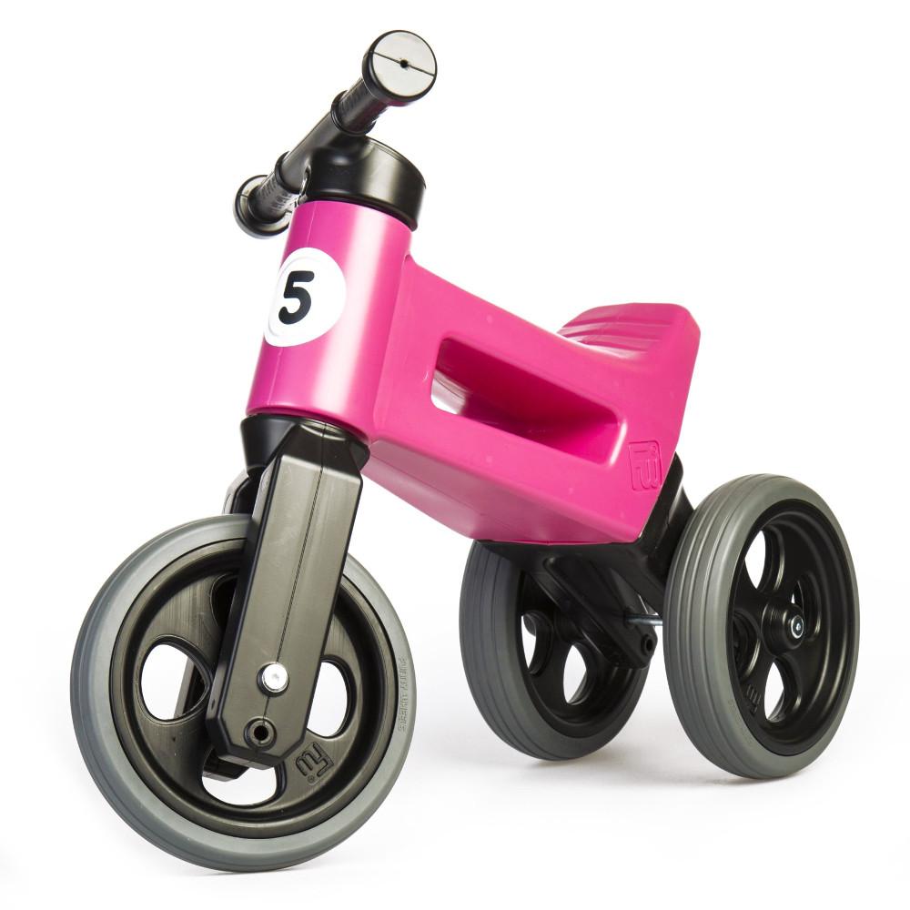 Odrážedlo FUNNY WHEELS Rider Sport 2v1 Cool Pink