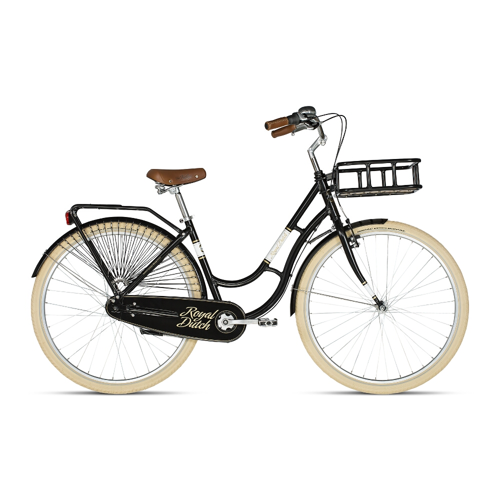 "Městské kolo KELLYS ROYAL DUTCH 28"" - model 2018 Black - 460 mm (18"") - Záruka 10 let"