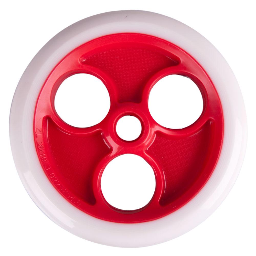Zadní kolečko Spartan 180x30mm pro koloběžku Jumbo 2 bez ložisek bílo-červená
