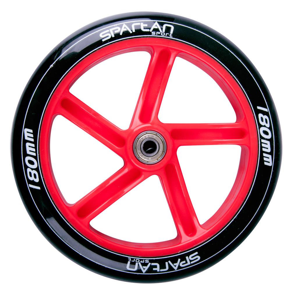 Zadní kolečko Spartan 180x30mm ABEC7 pro koloběžku Jumbo 2 černo-červená