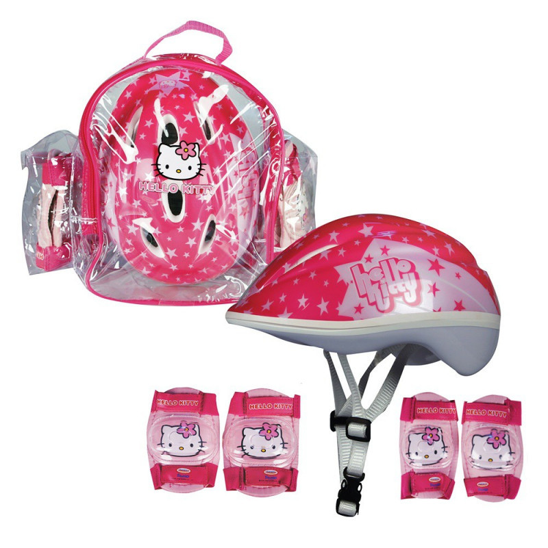Sada chráničů a helmy Hello Kitty s taškou