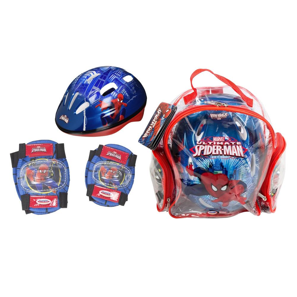 Sada chráničů a helmy Spiderman s taškou