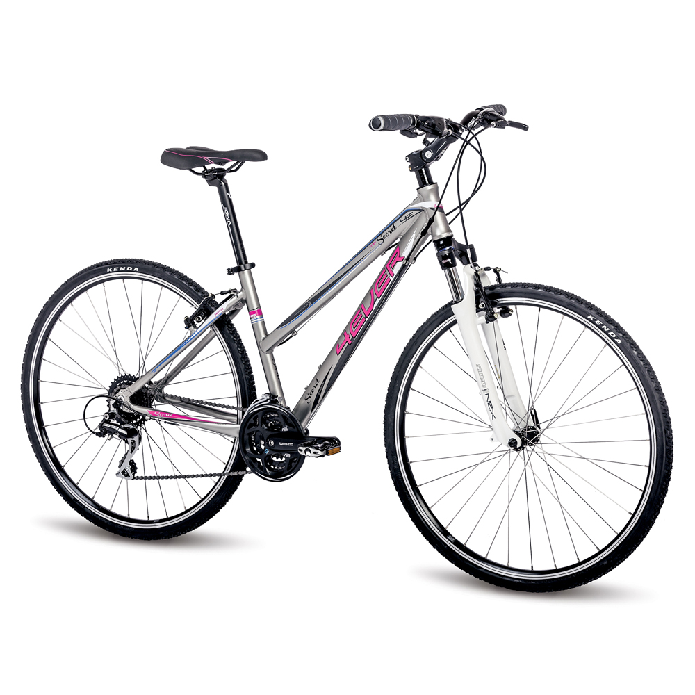 """Dámské crossové kolo 4EVER Secret 28"""" - model 2016 růžovo-stříbrná - 16,5"""""""