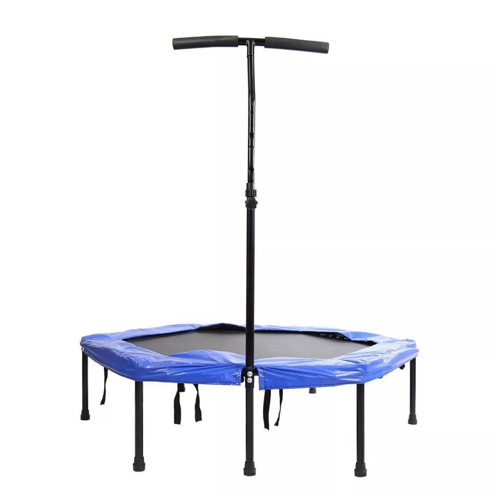 Bezpružinová trampolína s držadlem Spartan Hexagon 136 cm