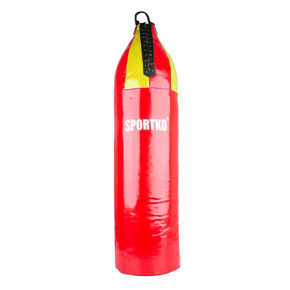 Dětský boxovací pytel SportKO MP7 24x80 cm červeno-žlutá