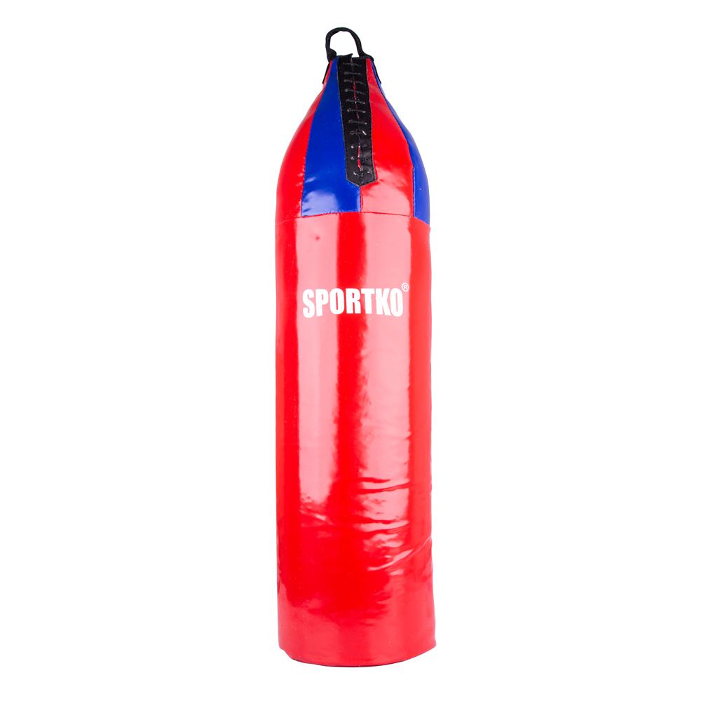 Dětský boxovací pytel SportKO MP7 24x80 cm červeno-modrá
