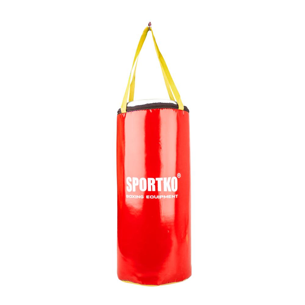 Dětský boxovací pytel SportKO MP9 24x50 cm červená