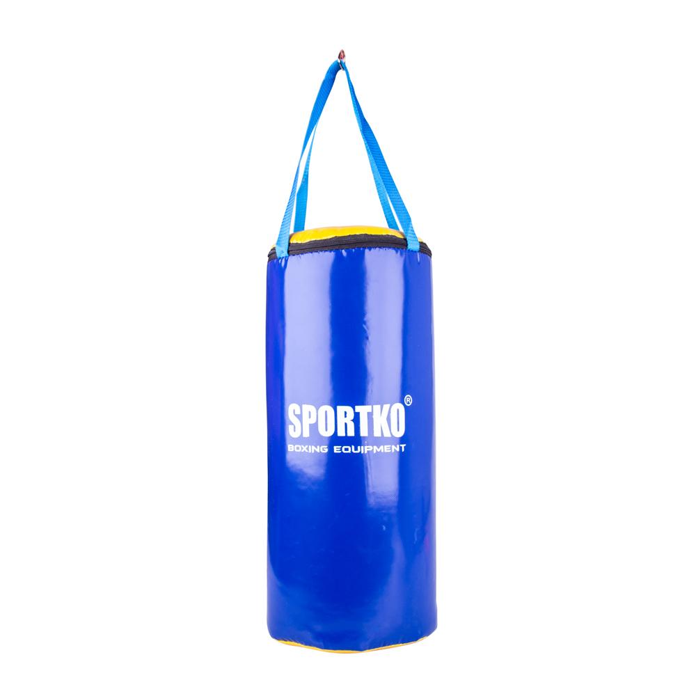 Dětský boxovací pytel SportKO MP9 24x50 cm modro-žlutá