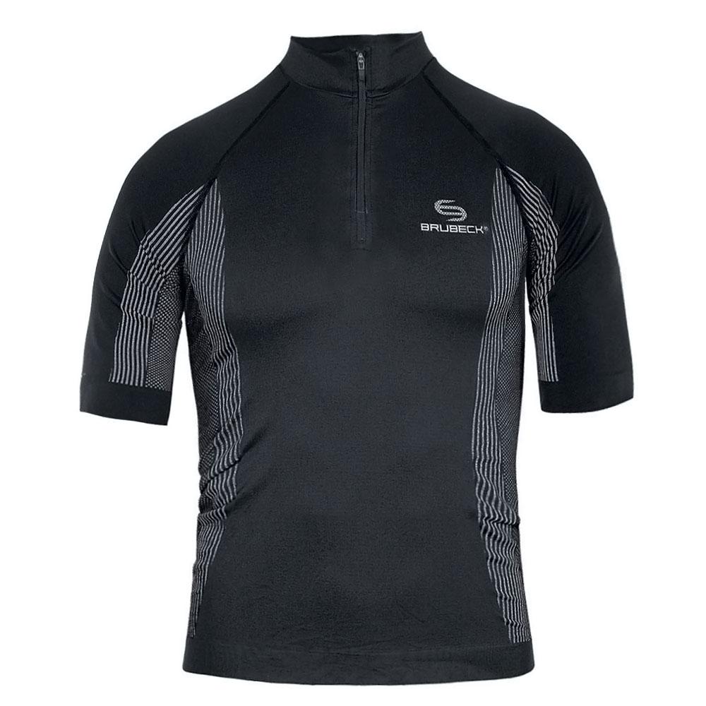 Pánské termo tričko Brubeck FIT s krátkým rukávem černá - S
