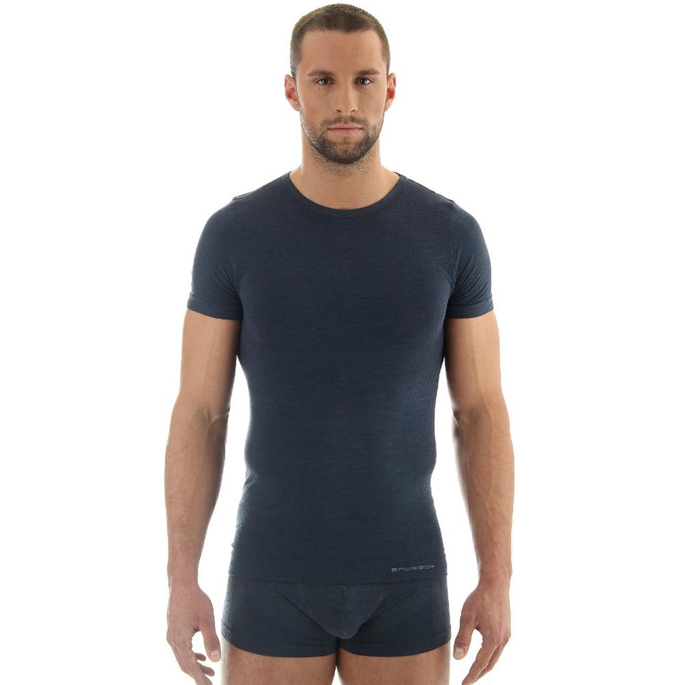 Pánské tričko Brubeck - vlna krátký rukáv
