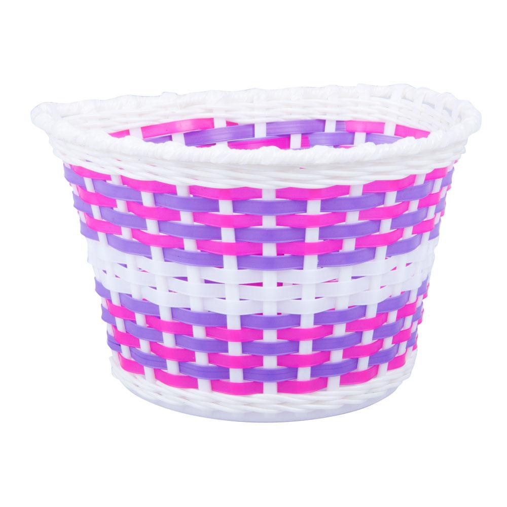 Dětský plastový košík růžový růžovo-bílá