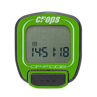 Cyklocomputer Crops F1008 zelená