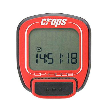 Cyklocomputer Crops F1008 červená