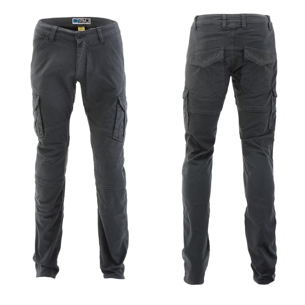 Pánské moto kalhoty PMJ Santiago šedá - 30