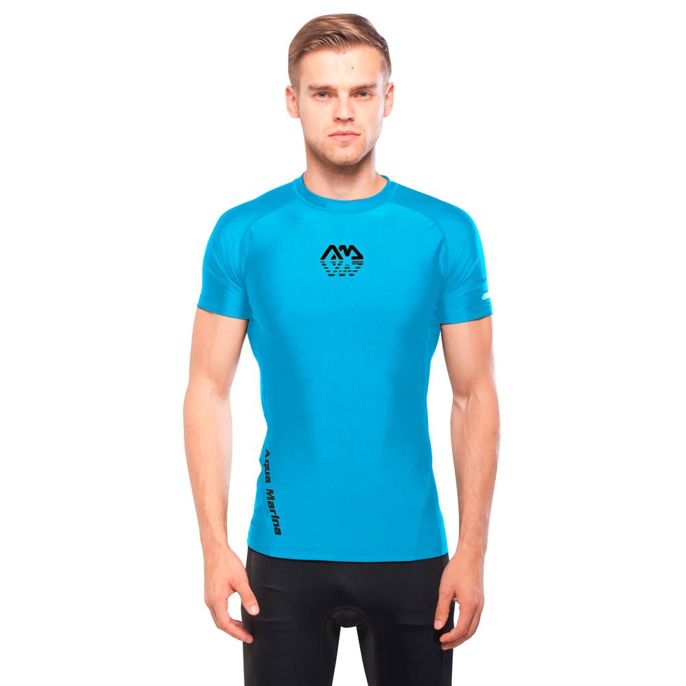 Pánské tričko pro vodní sporty Aqua Marina Scene modrá - S