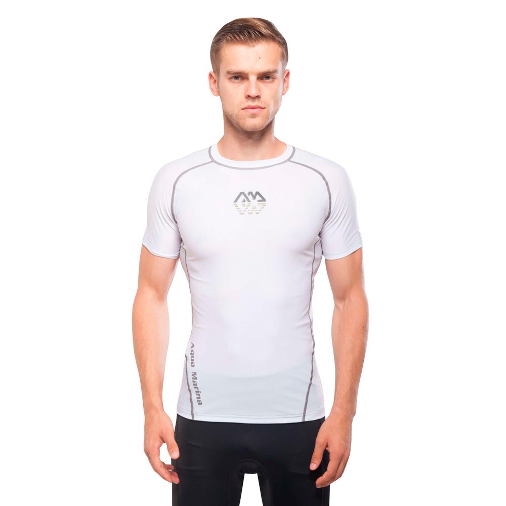 Pánské tričko pro vodní sporty Aqua Marina Scene bílá - S