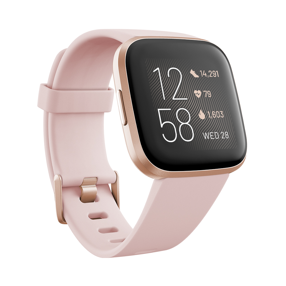 Chytré hodinky Fitbit Versa 2 Petal/Copper Rose