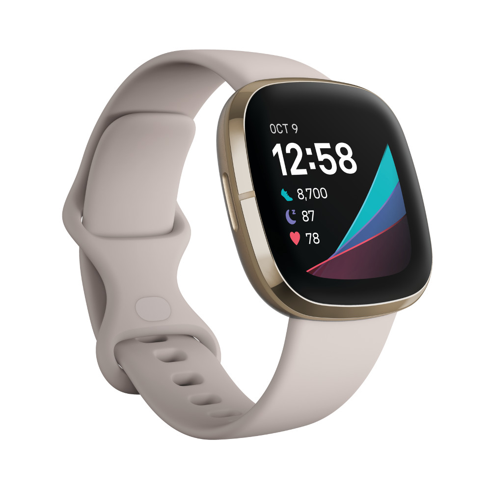 Fitbit Sense WhiteSoft Gold Stainless Steel