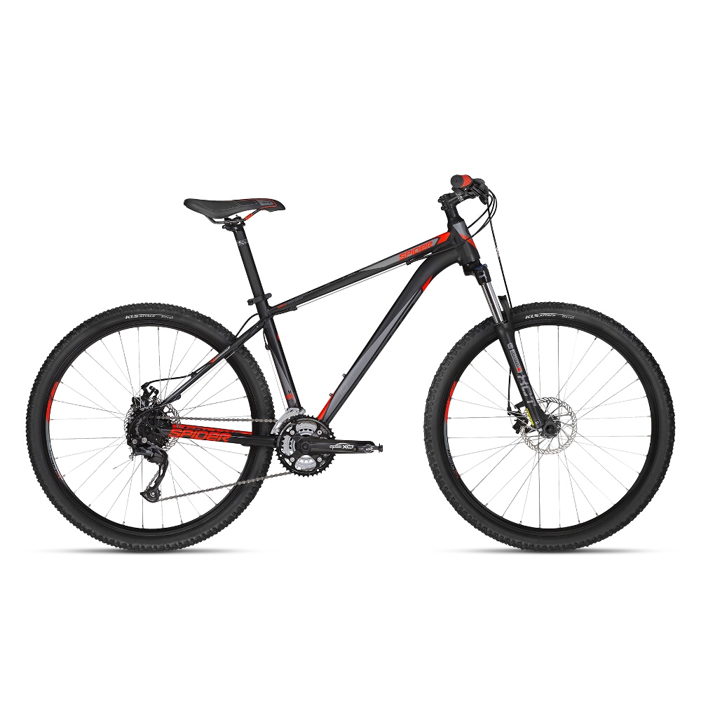 "Horské kolo KELLYS SPIDER 10 27,5"" - model 2018 Black - M - Záruka 10 let"