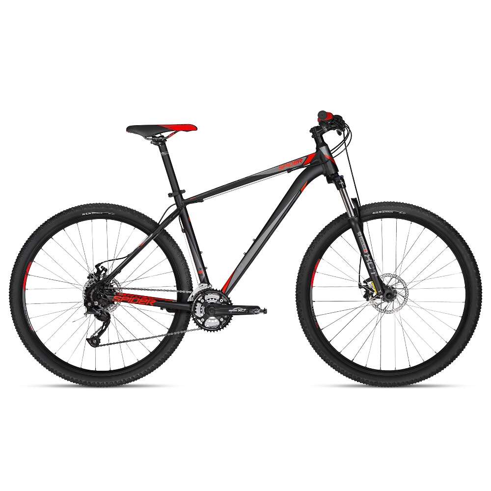 "Horské kolo KELLYS SPIDER 10 29"" - model 2018 Black - S - Záruka 10 let"