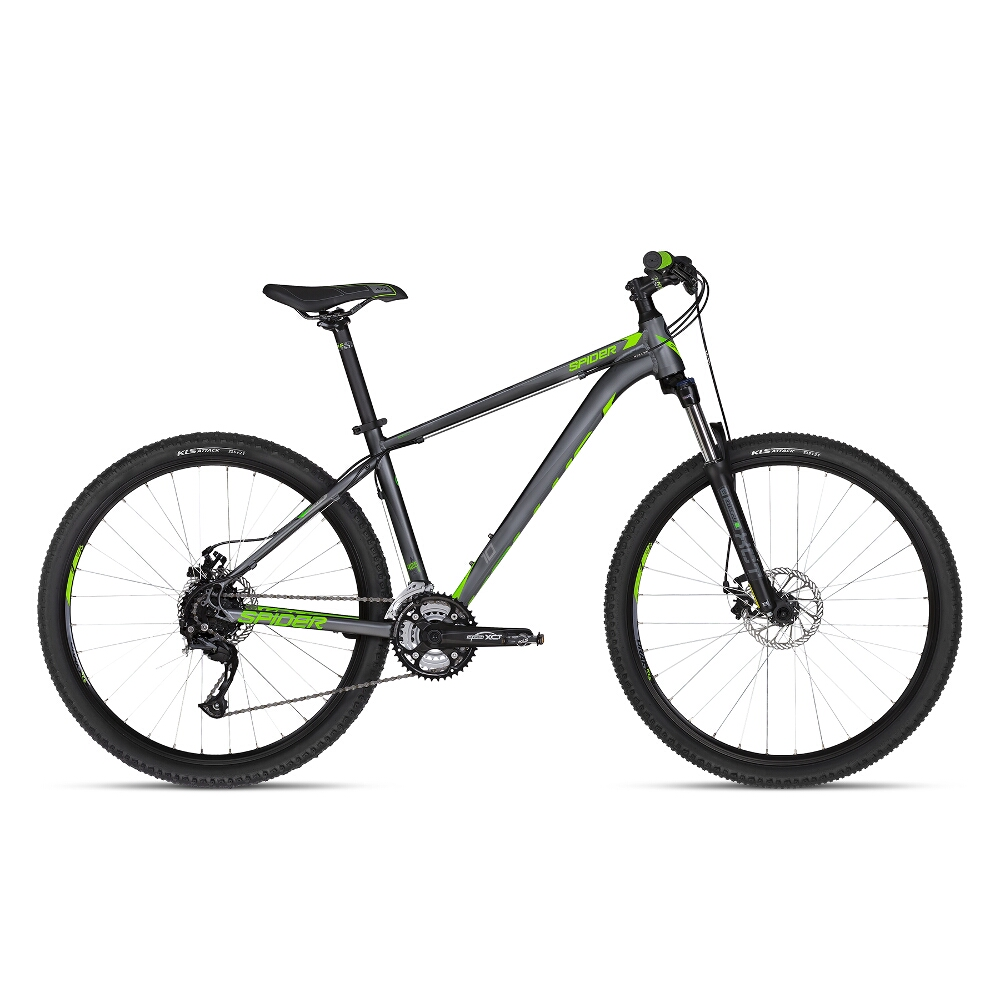 "Horské kolo KELLYS SPIDER 10 27,5"" - model 2018 Green - M - Záruka 10 let"