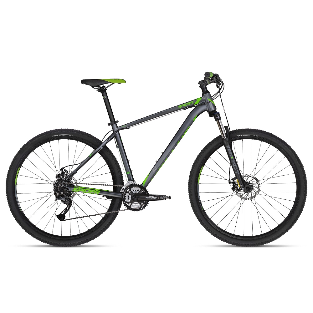 "Horské kolo KELLYS SPIDER 10 29"" - model 2018 Green - S (17'') - Záruka 10 let"