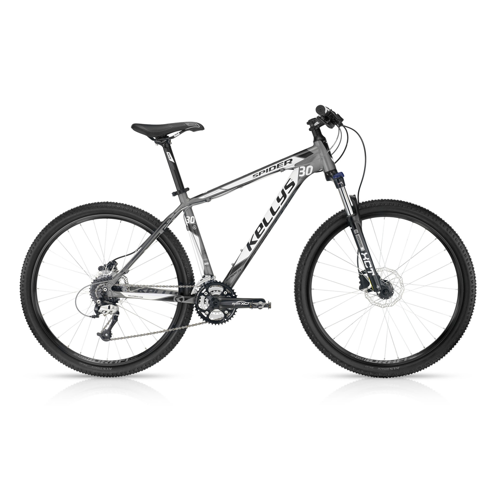 "Horské kolo KELLYS SPIDER 30 Grey 27,5"" - model 2016 545 mm (21,5"") - záruka 5 let"