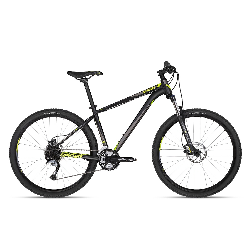 "Horské kolo KELLYS SPIDER 30 27,5"" - model 2018 Black - XS - Záruka 10 let"