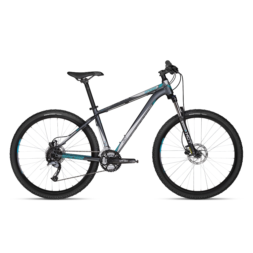 "Horské kolo KELLYS SPIDER 30 27,5"" - model 2018 Grey - M - Záruka 10 let"