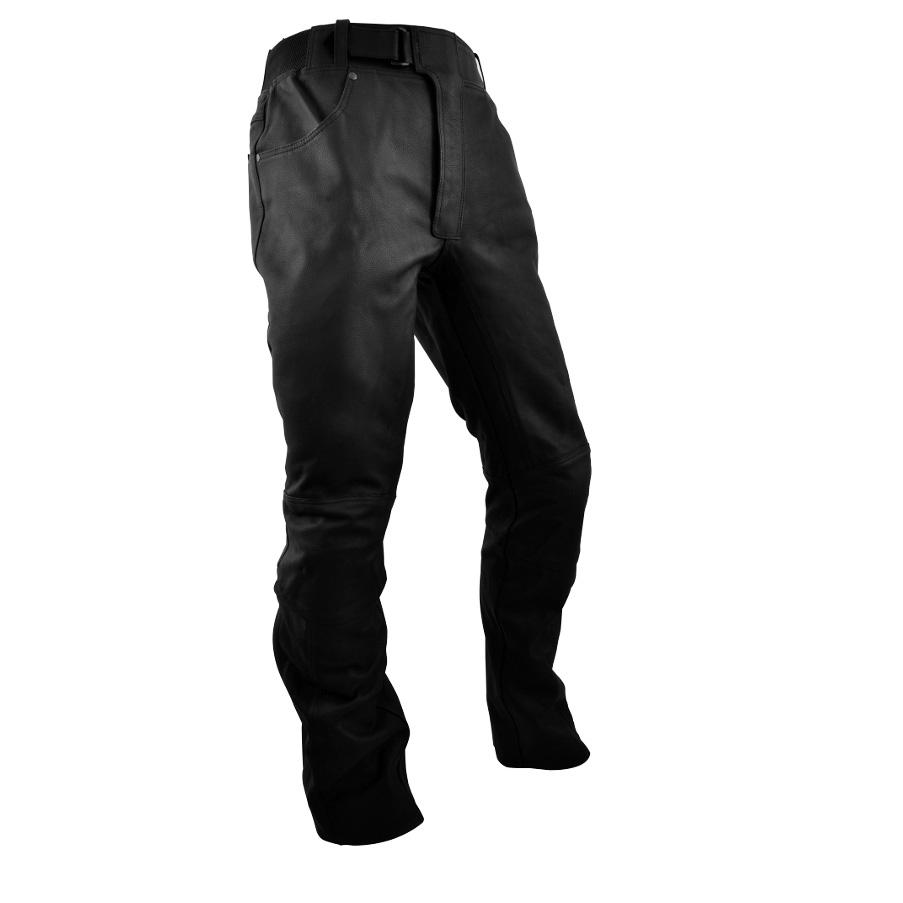 Kožené moto kalhoty Rebelhorn RUNNER černá - M