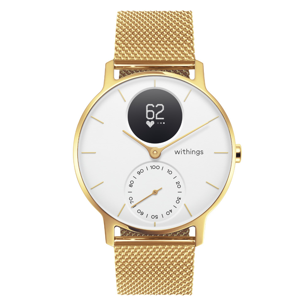 66e2bfac1 Chytré hodinky Withings Steel HR (36 mm) Champagne Gold/White
