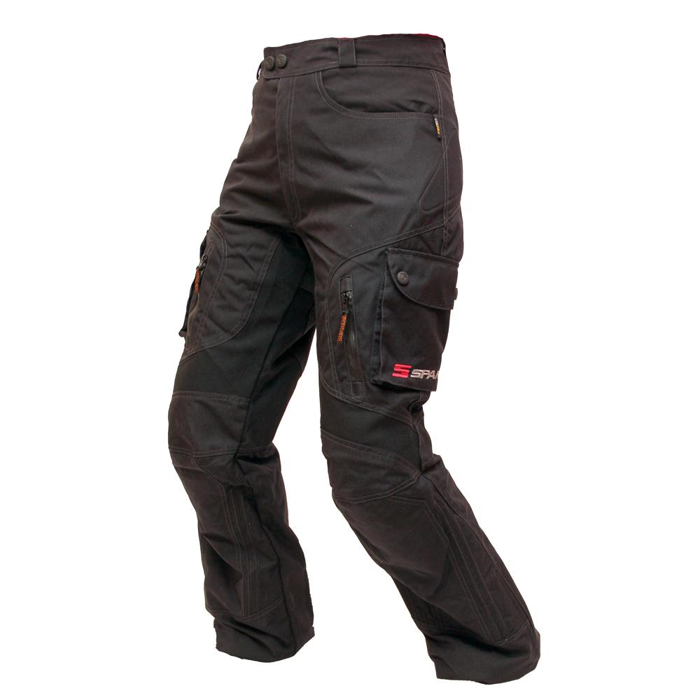 Unisex moto kalhoty Spark Stream černá - S