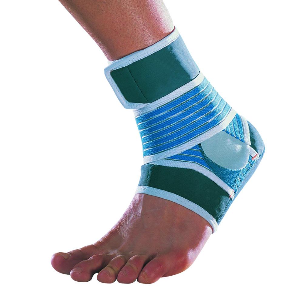 Thuasne sportovní bandáž podpora kotníku pásková modro-zelená - M