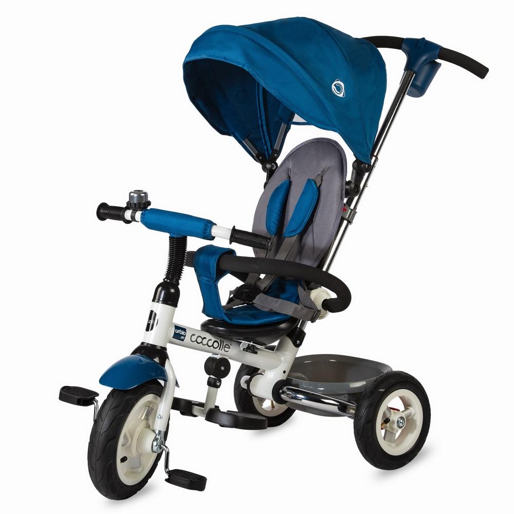Dětská tříkolka s vodící tyčí Coccolle Urbio Air modrá