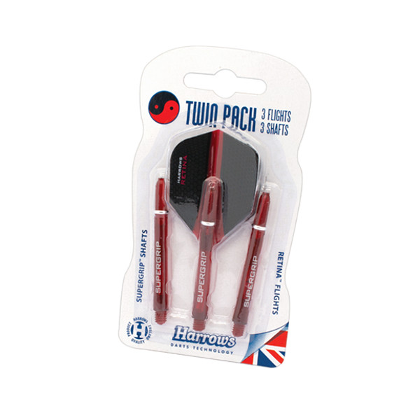 Harrows Twin Pack Medium Red