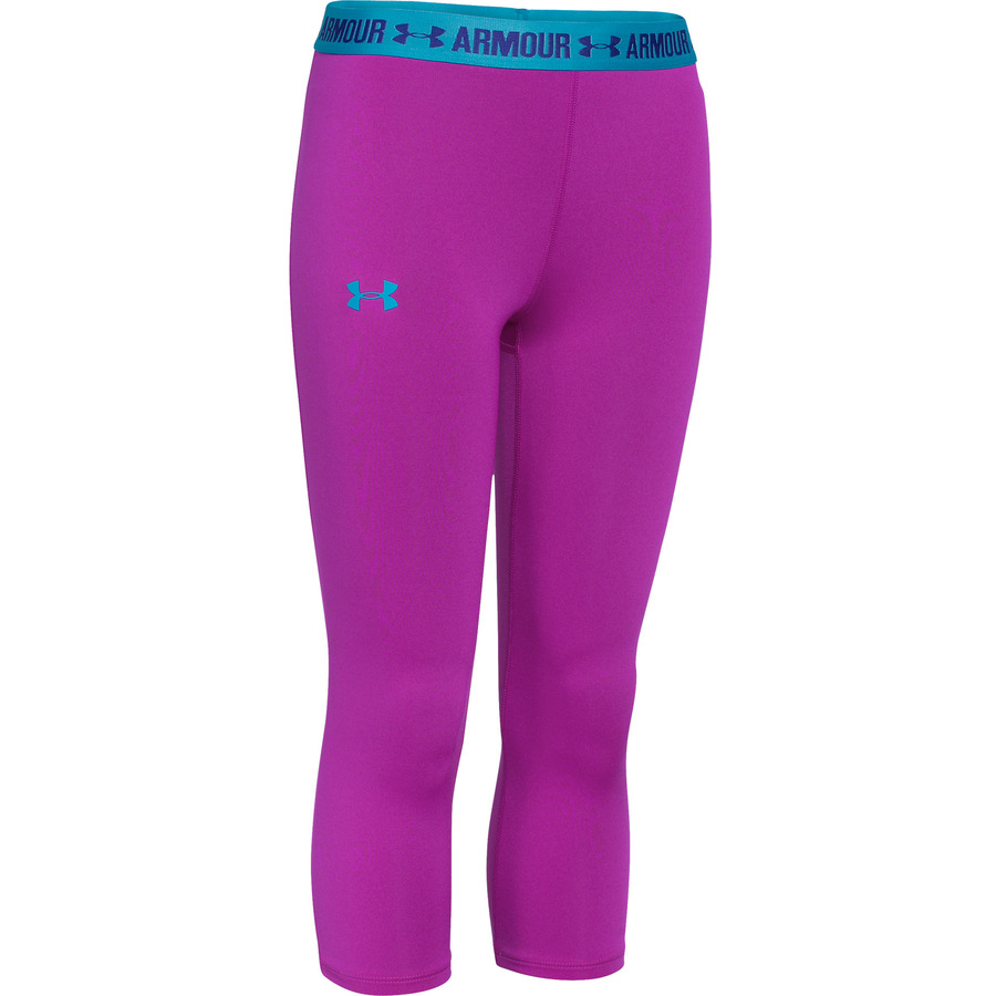 Under Armour Armour Capri Medium Red VioletPacific BlueJacksons Purple - YL