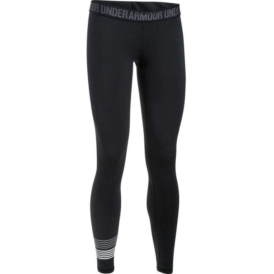 Under Armour Favorite Legging WM Graphic BlackSteelWhite - L