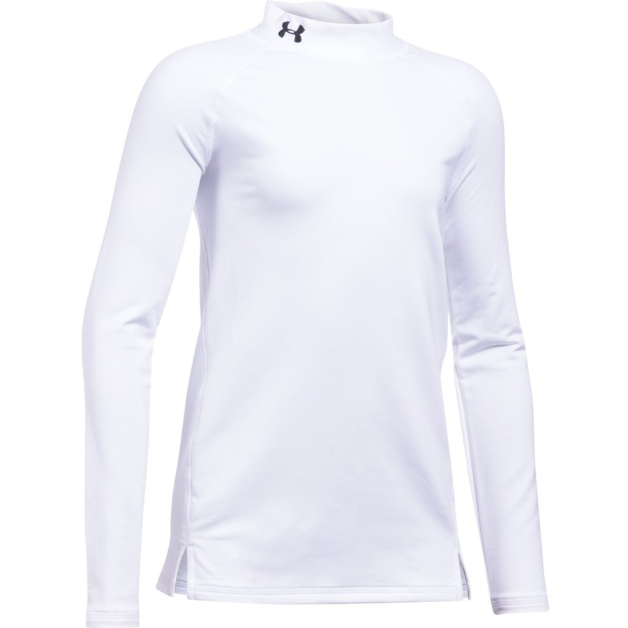 Dívčí triko Under Armour ColdGear Mock White/White/Black - YS
