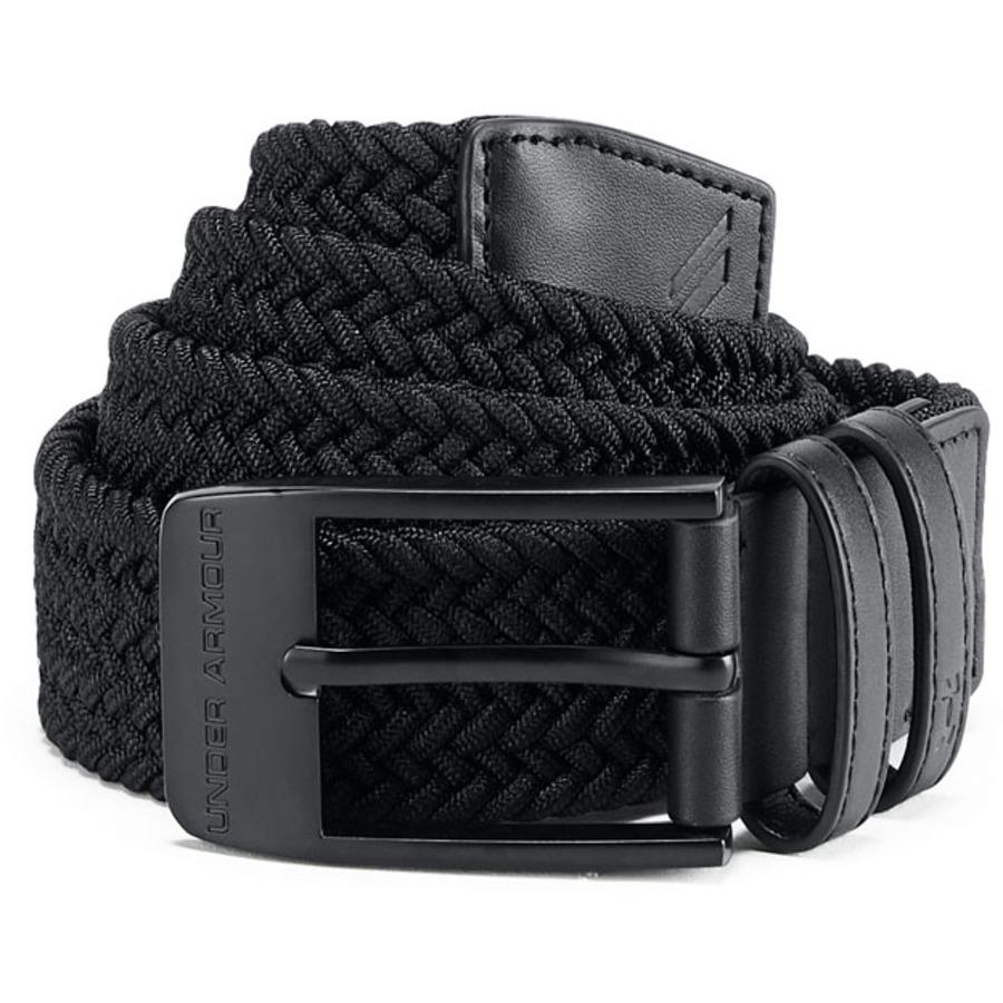Levně Pánský Opasek Under Armour Men's Braided 2.0 Belt Black/Black 36