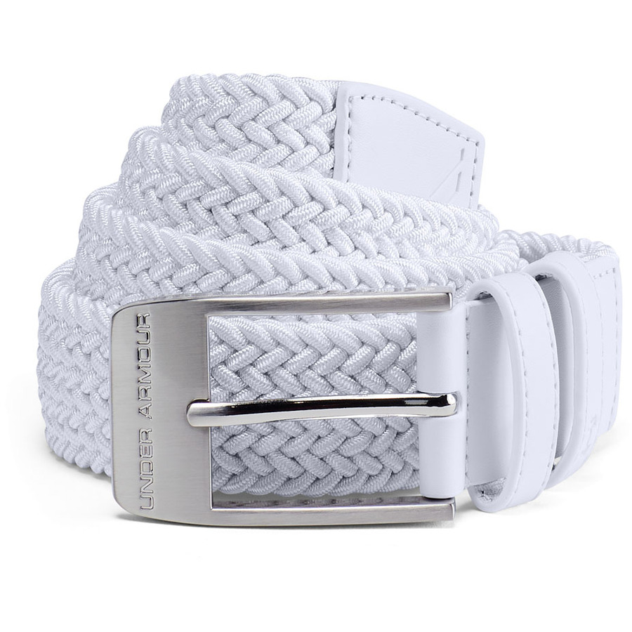 Under Armour Mens Braided 2.0 Belt White - 40