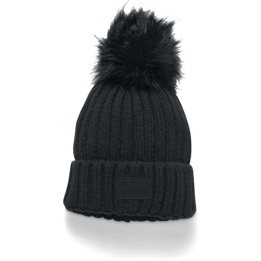 Under Armour Snowcrest Pom Beanie BlackBlackBlack - OSFA