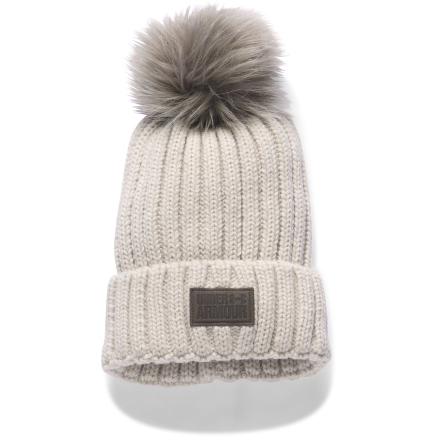 Under Armour Snowcrest Pom Beanie Light Cream HeatherCannon - OSFA