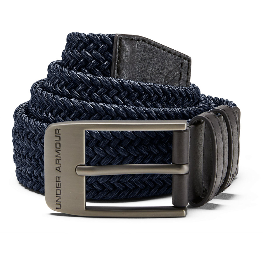 Under Armour Mens Braided 2.0 Belt AcademyCharcoal - 38