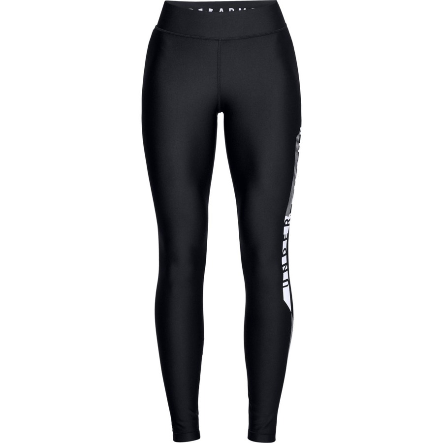 Under Armour HG Armour Graphic Legging BlackWhiteMetallic Silver - M