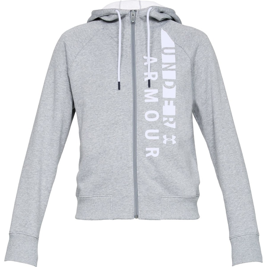Under Armour Cotton Fleece WM FZ Steel Light HeatherWhiteWhite - S