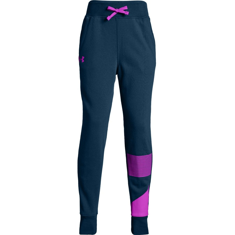 Under Armour Rival Jogger Techno TealFluo Fuchsia - YXS