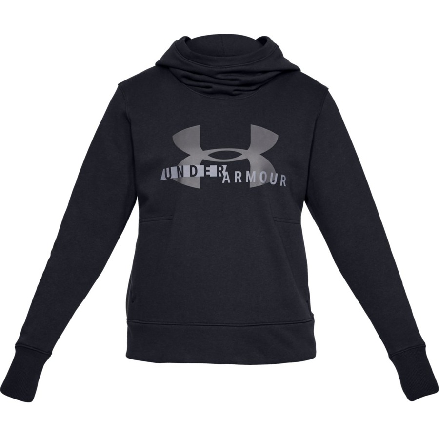 Under Armour Cotton Fleece Sportstyle Logo Hoodie Black - XS