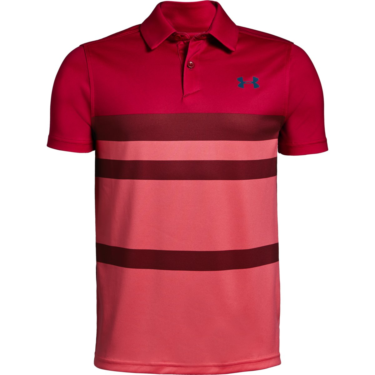 Under Armour Tour Tips Engineered Polo Lava - YXS