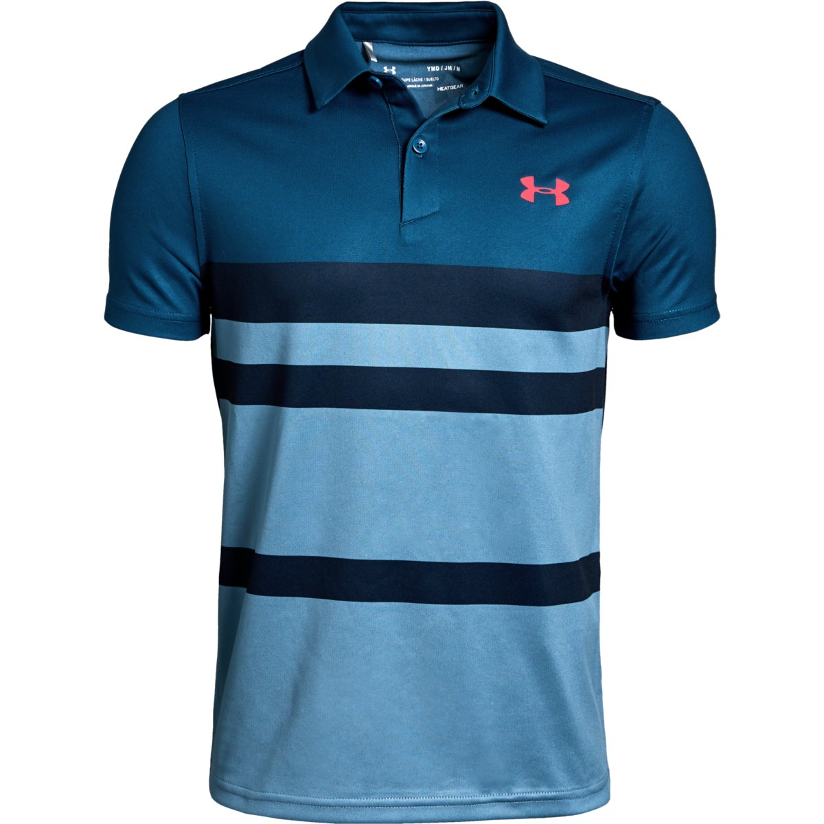 Under Armour Tour Tips Engineered Polo Petrol Blue - YXS